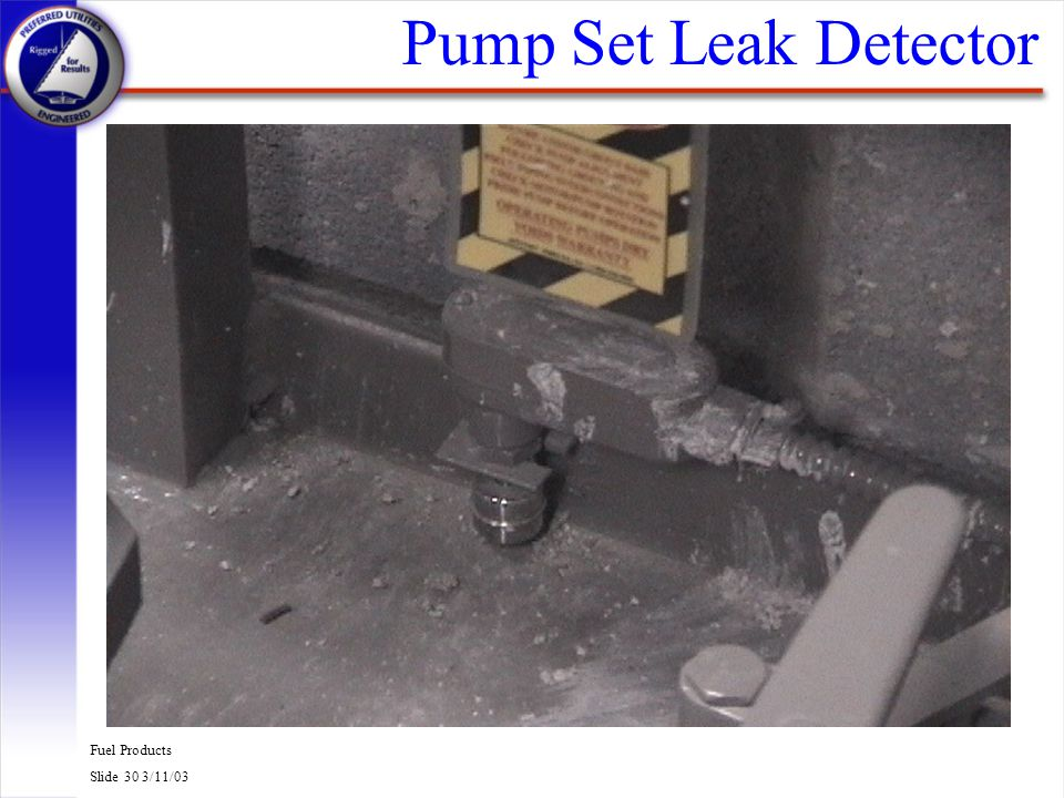 Pump Set Leak Detector