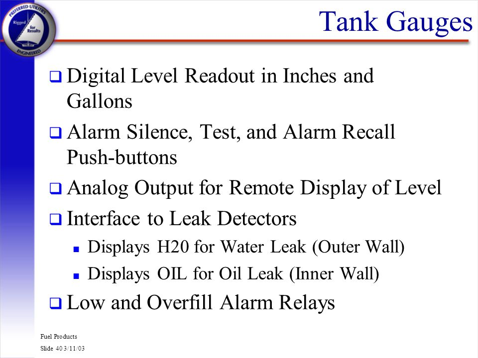 Tank Gauges Digital Level Readout in Inches and Gallons