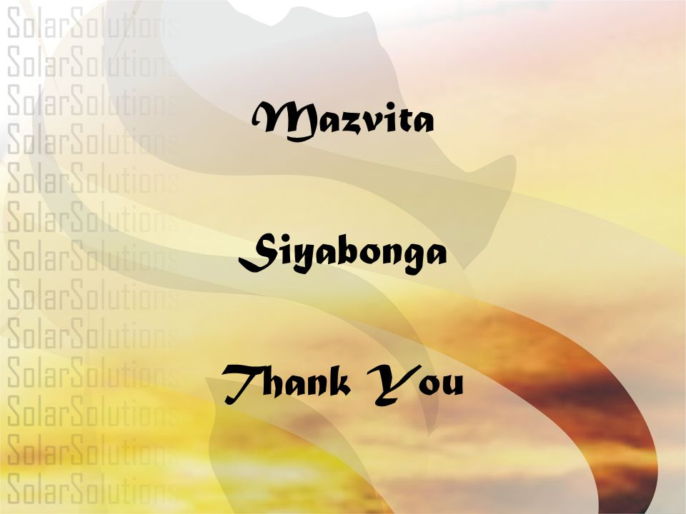 Mazvita Siyabonga Thank You