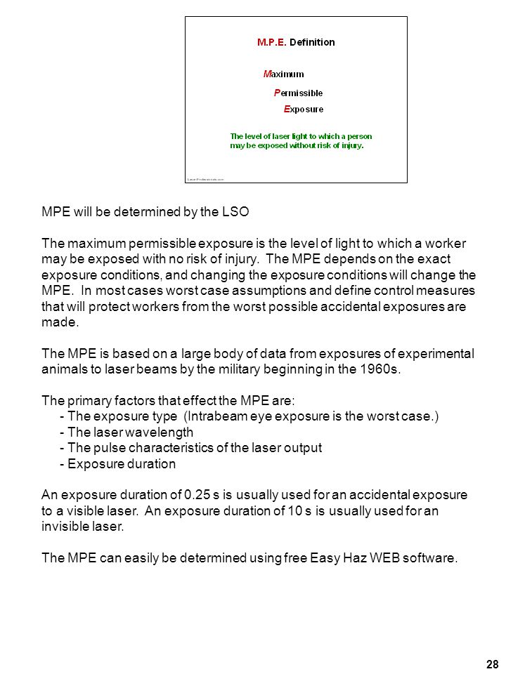 MPE will be determined by the LSO