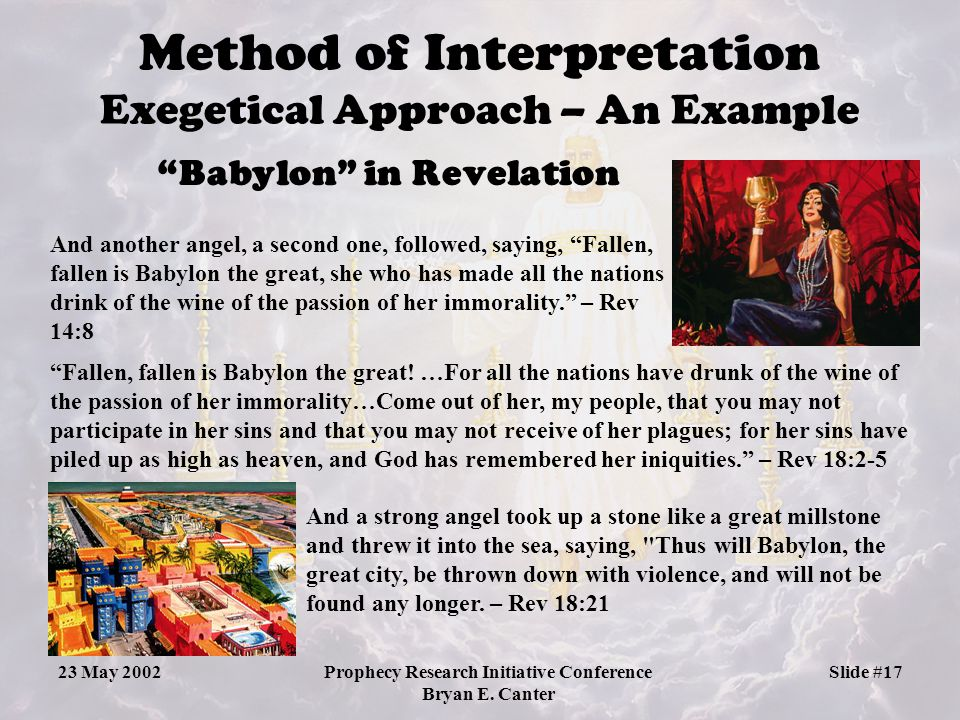 Method of Interpretation Exegetical Approach – An Example