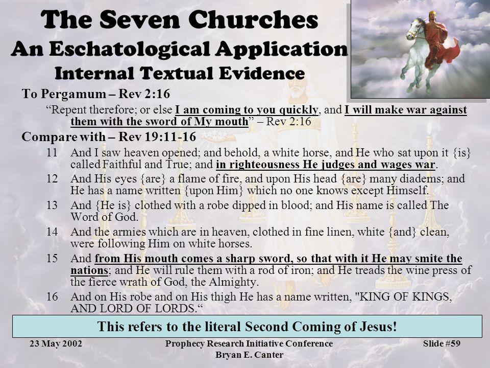The Seven Churches An Eschatological Application Internal Textual Evidence
