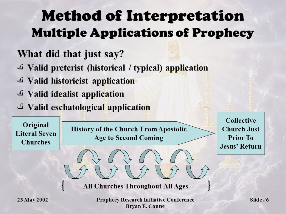 Method of Interpretation Multiple Applications of Prophecy