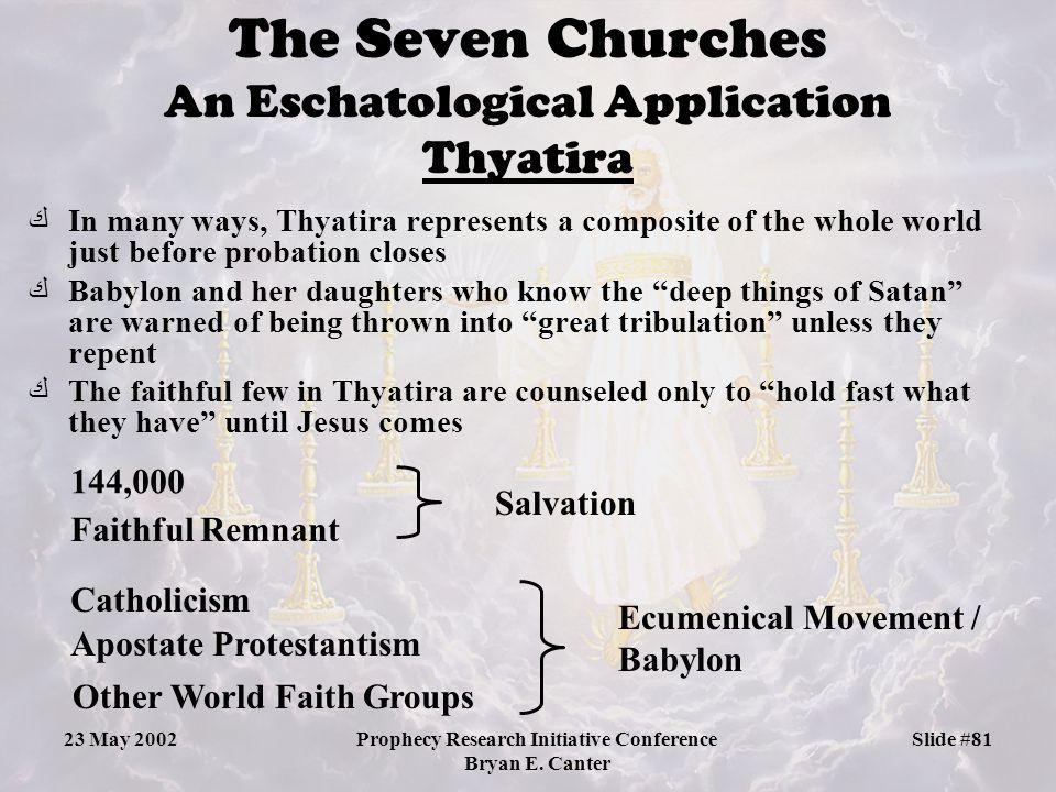 The Seven Churches An Eschatological Application Thyatira