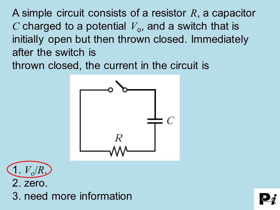 thrown closed, the current in the circuit is
