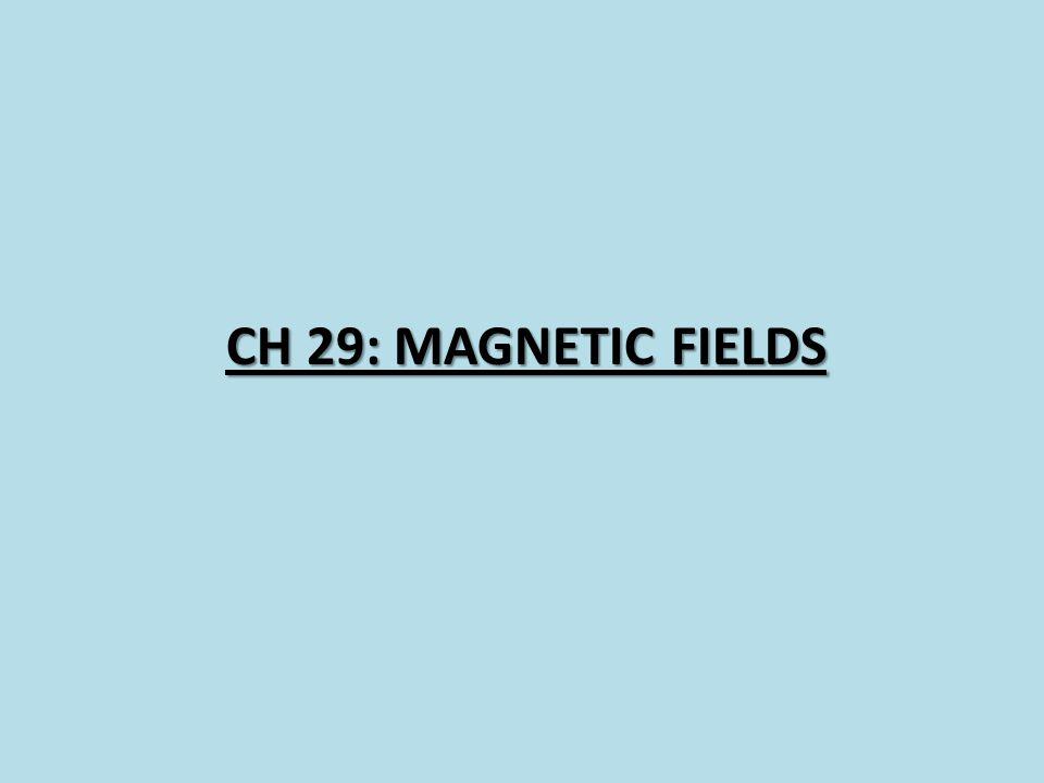 CH 29: Magnetic Fields