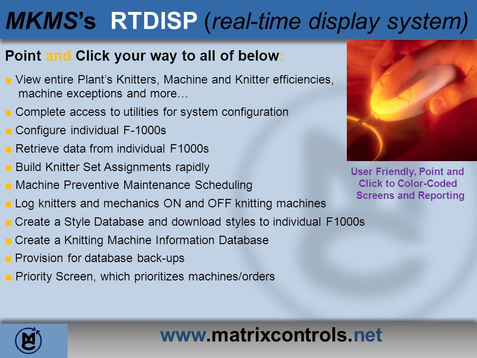 MKMS's RTDISP (real-time display system)