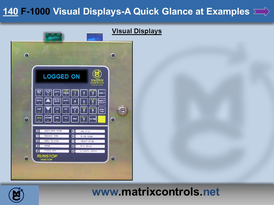 140 F-1000 Visual Displays-A Quick Glance at Examples