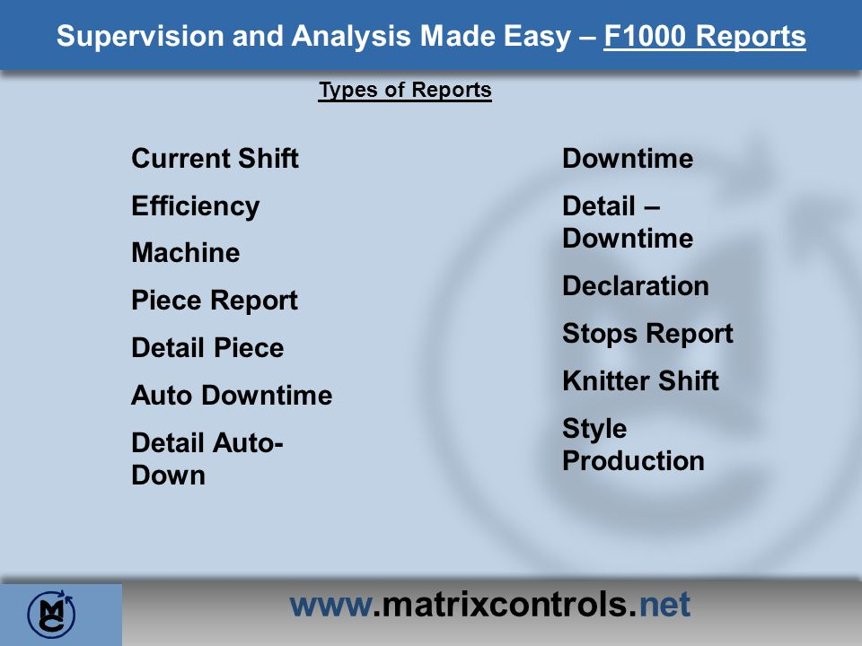 Supervision and Analysis Made Easy – F1000 Reports
