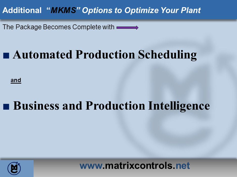 ■ Automated Production Scheduling