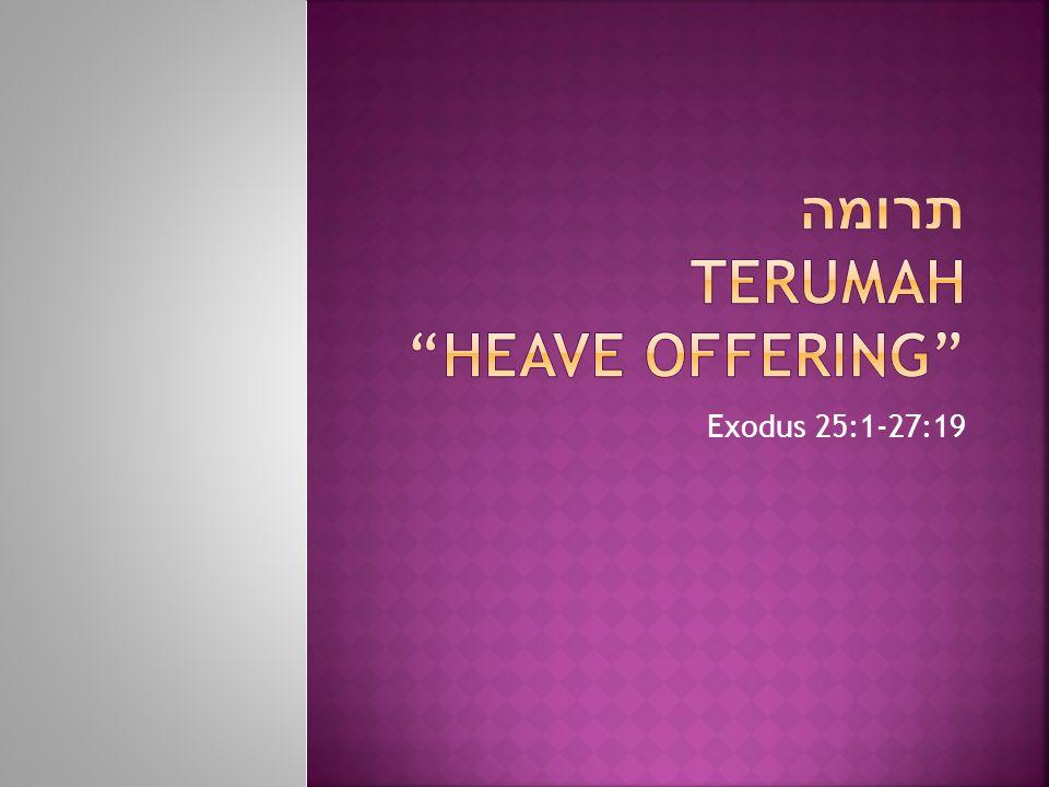 תרומה Terumah Heave offering