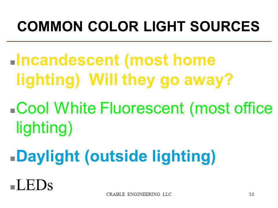 COMMON COLOR LIGHT SOURCES