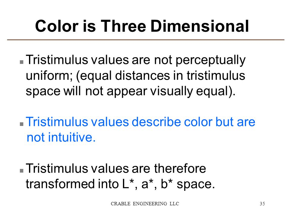 Color is Three Dimensional