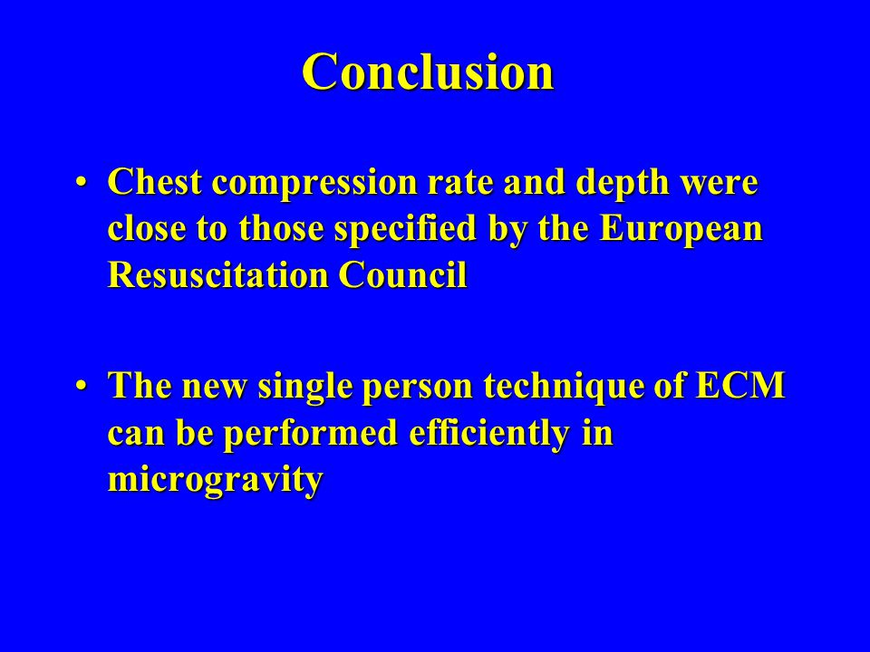 Conclusion Chest compression rate and depth were close to those specified by the European Resuscitation Council.
