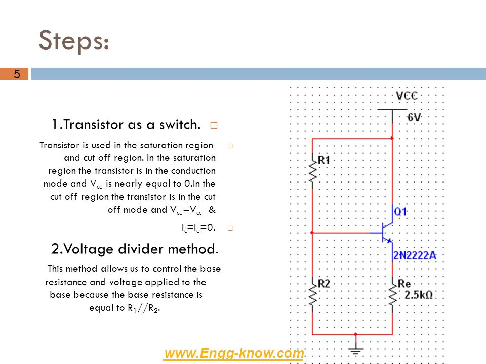 2.Voltage divider method.