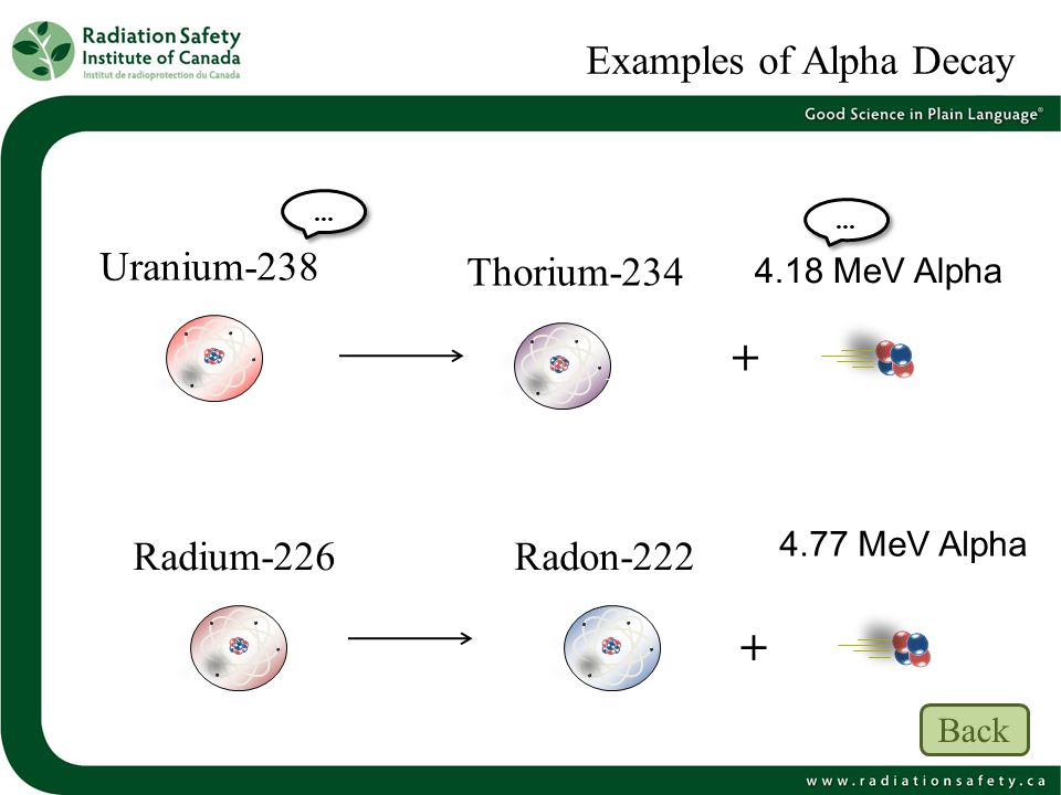Examples of Alpha Decay