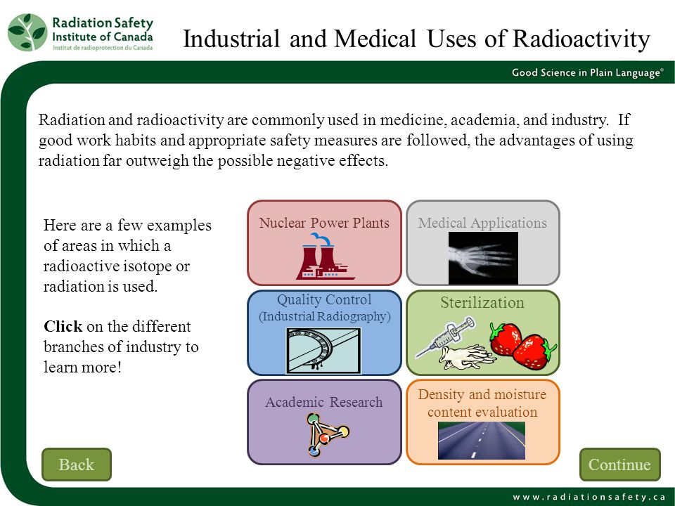 Industrial and Medical Uses of Radioactivity