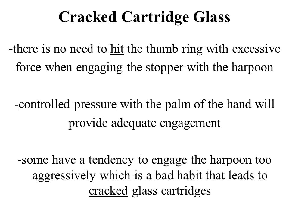 Cracked Cartridge Glass