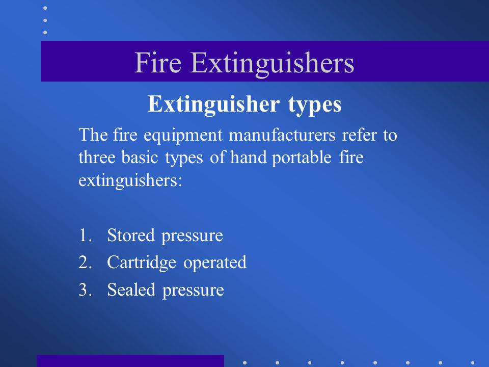 Fire Extinguishers Extinguisher types
