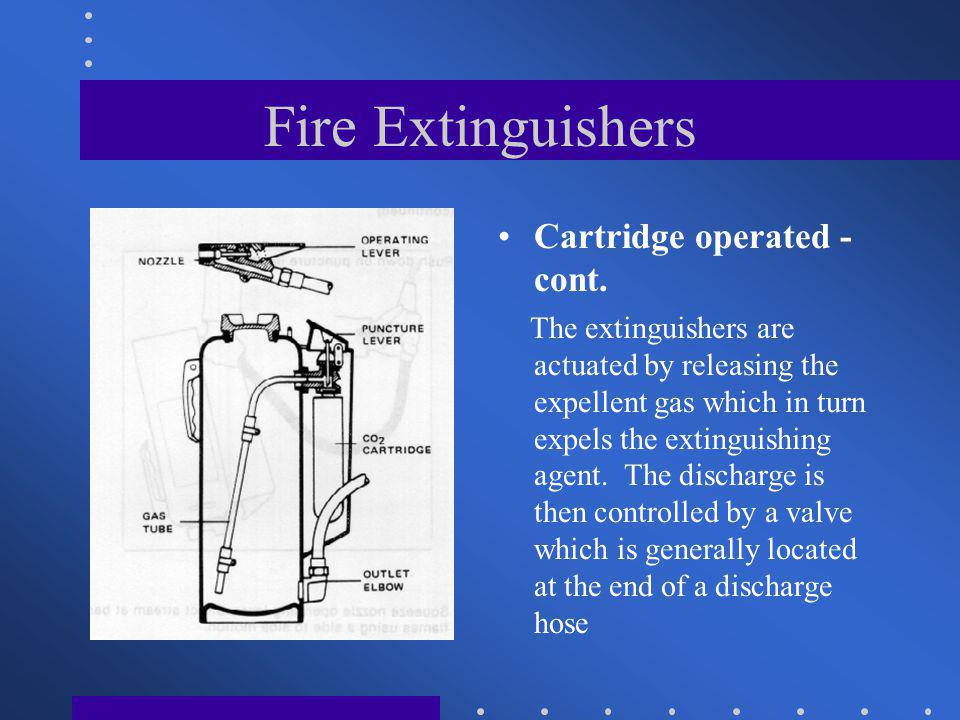 Fire Extinguishers Cartridge operated - cont.