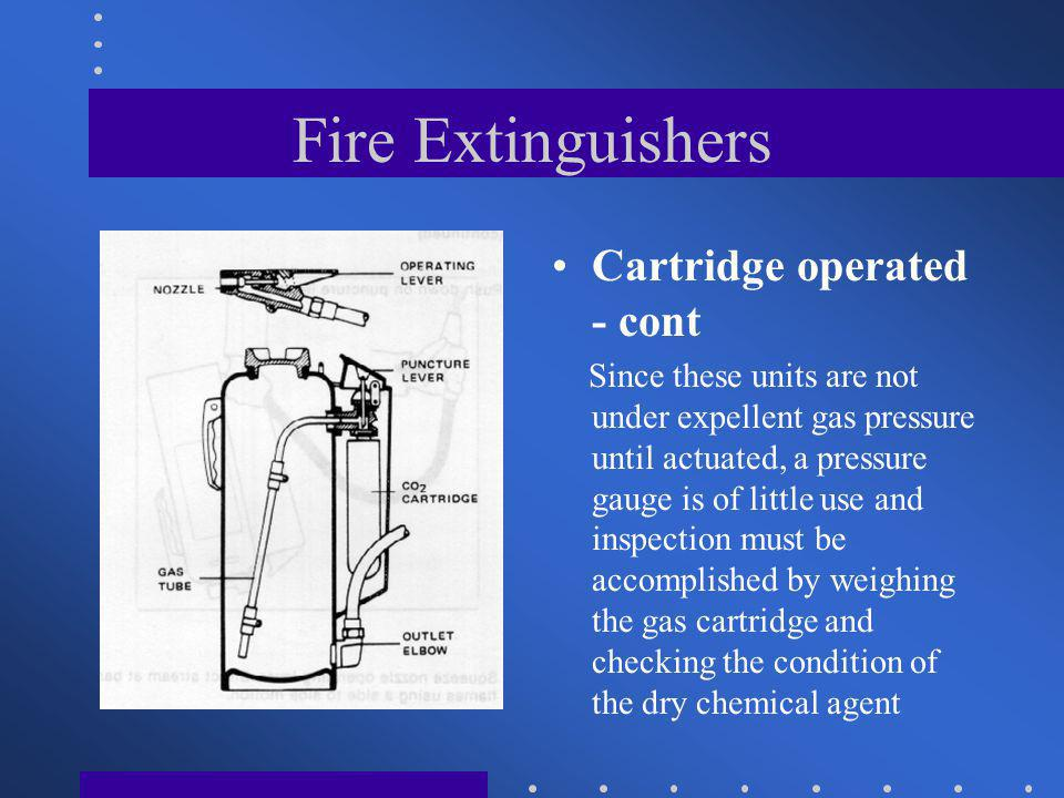 Fire Extinguishers Cartridge operated - cont