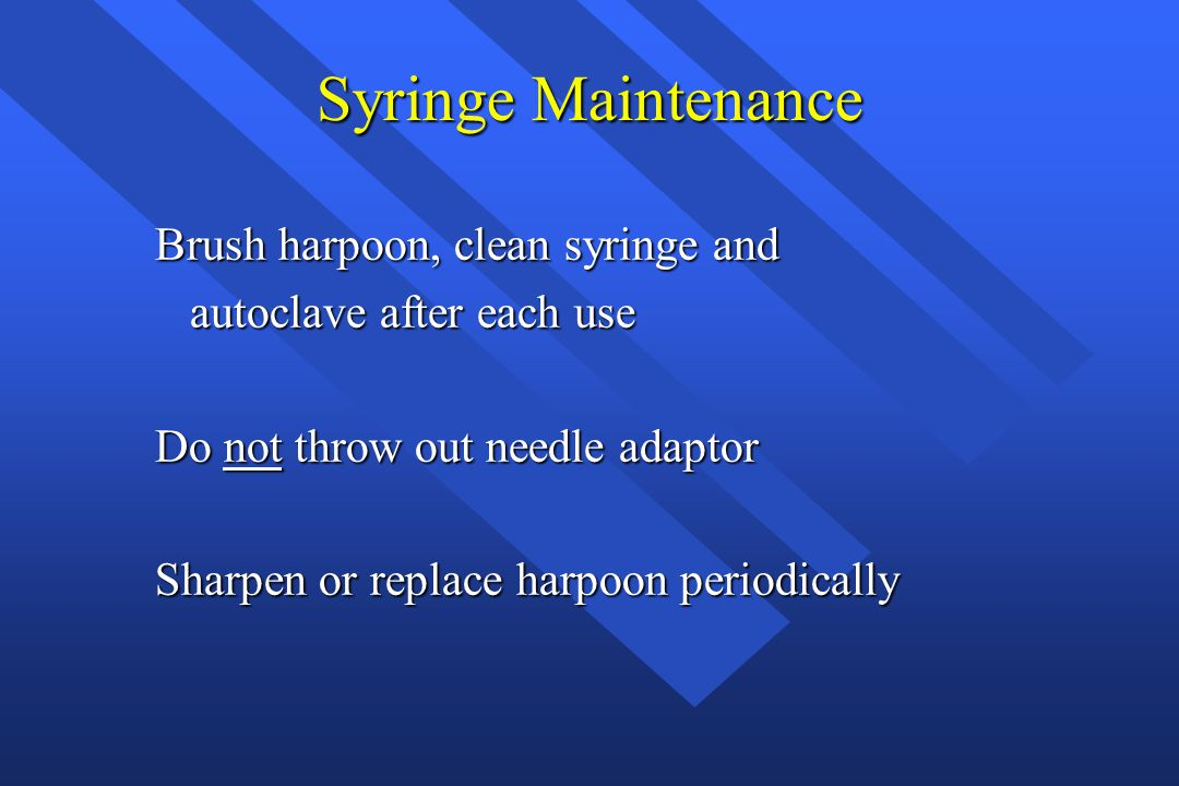 Syringe Maintenance Brush harpoon, clean syringe and