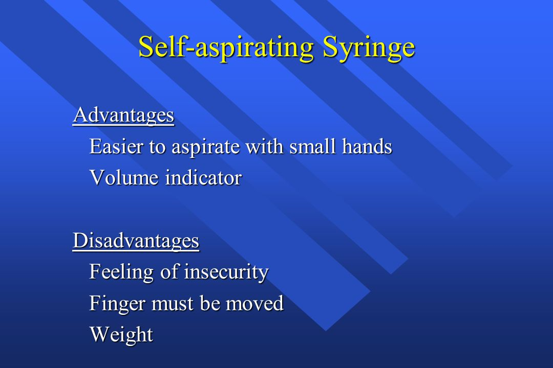 Self-aspirating Syringe