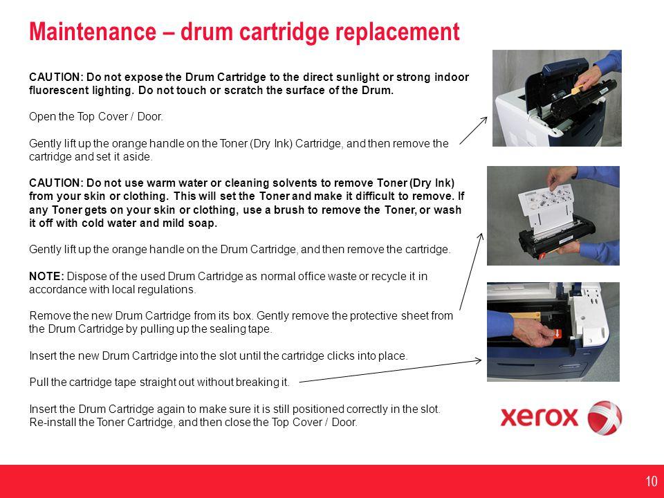 Maintenance – drum cartridge replacement