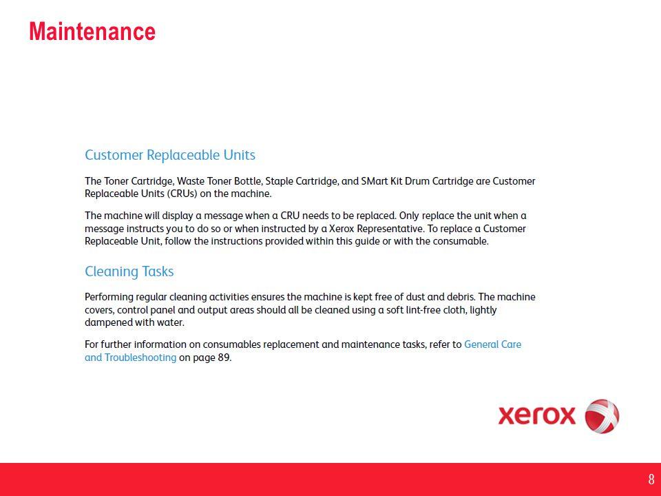 Maintenance 4/1/2017 Maintenance: Replace print cartridge