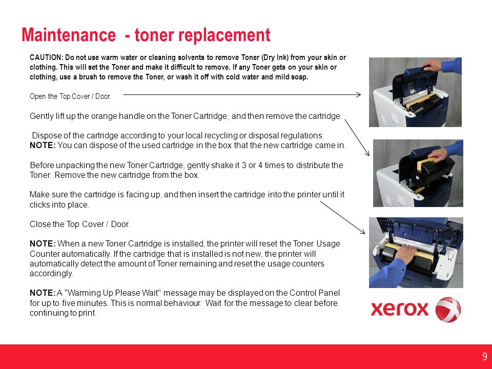 Maintenance - toner replacement