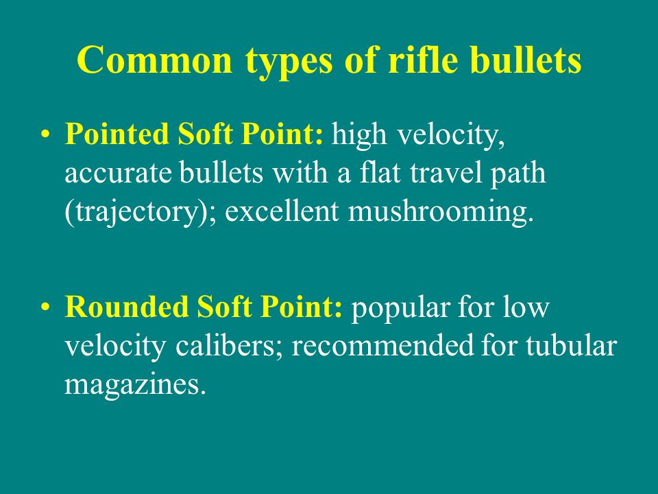 Common types of rifle bullets