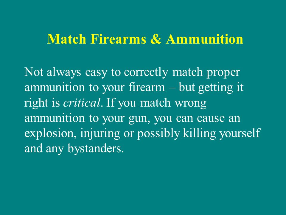 Match Firearms & Ammunition