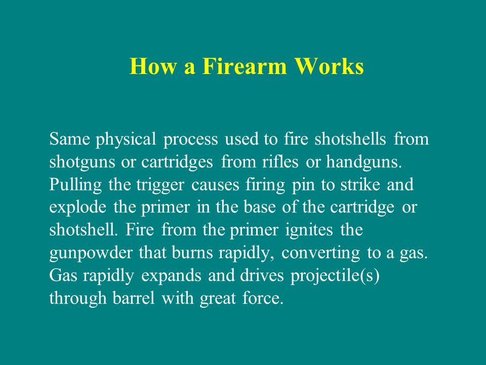 How a Firearm Works