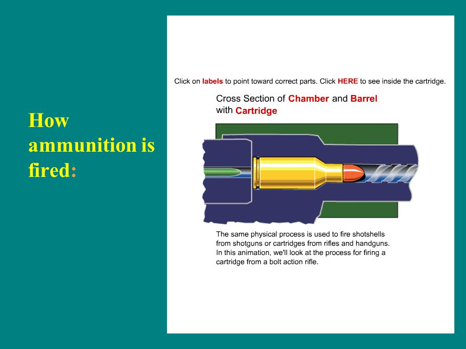 How ammunition is fired: