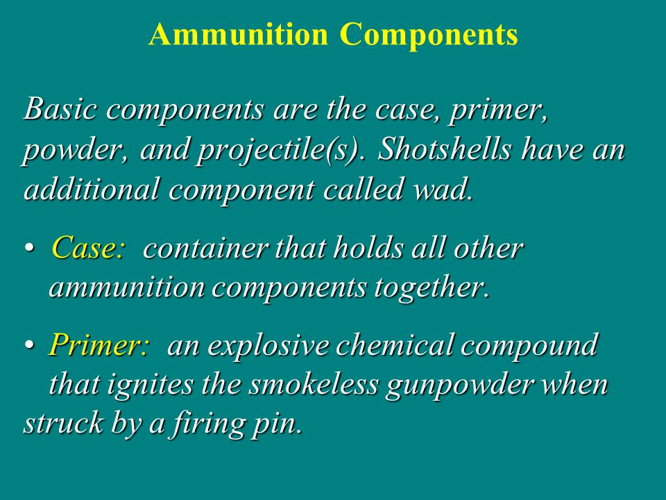Ammunition Components