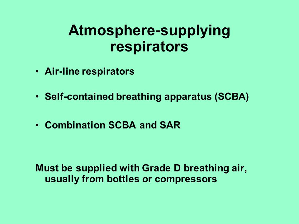 Atmosphere-supplying respirators