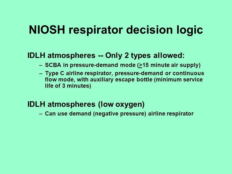 NIOSH respirator decision logic