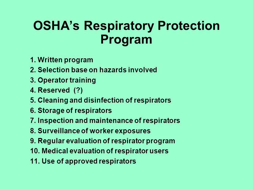OSHA's Respiratory Protection Program
