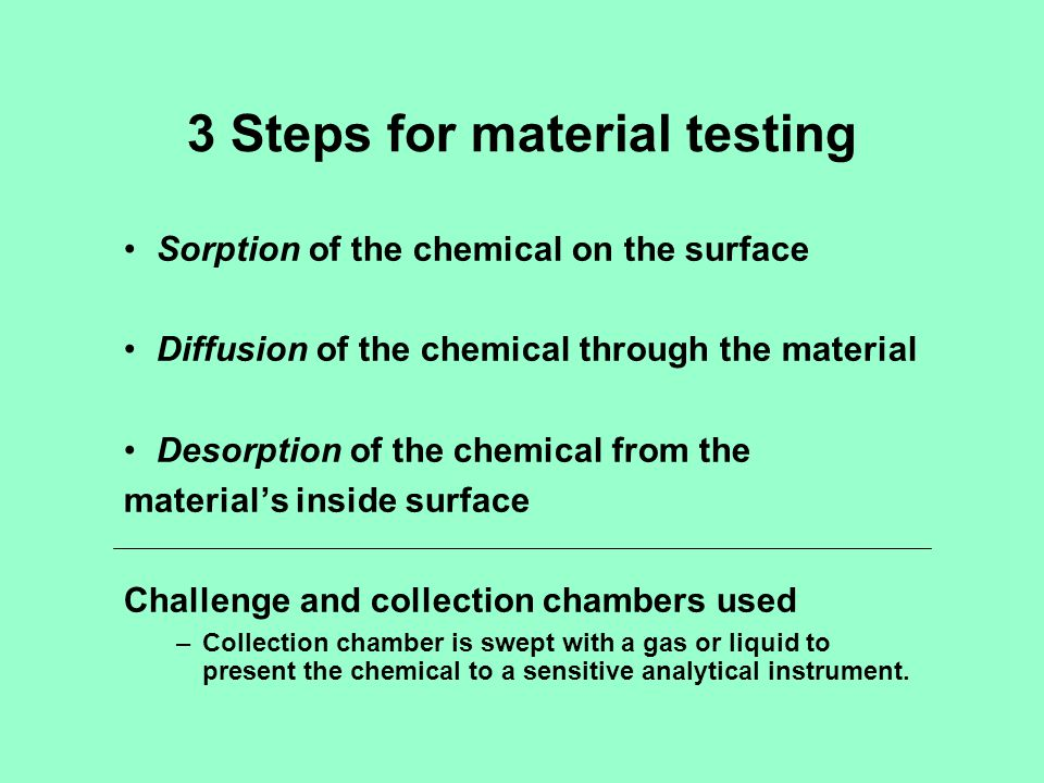 3 Steps for material testing