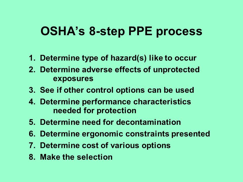 OSHA's 8-step PPE process