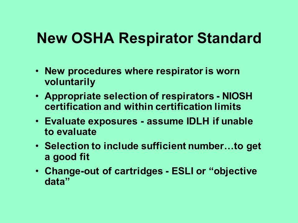 New OSHA Respirator Standard