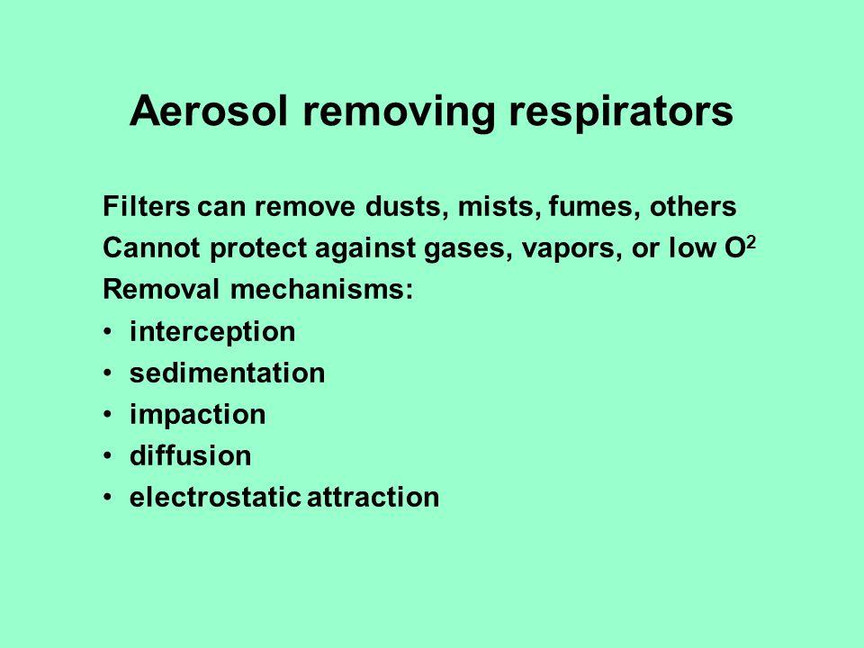 Aerosol removing respirators
