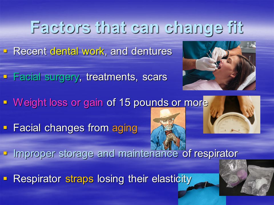 Factors that can change fit