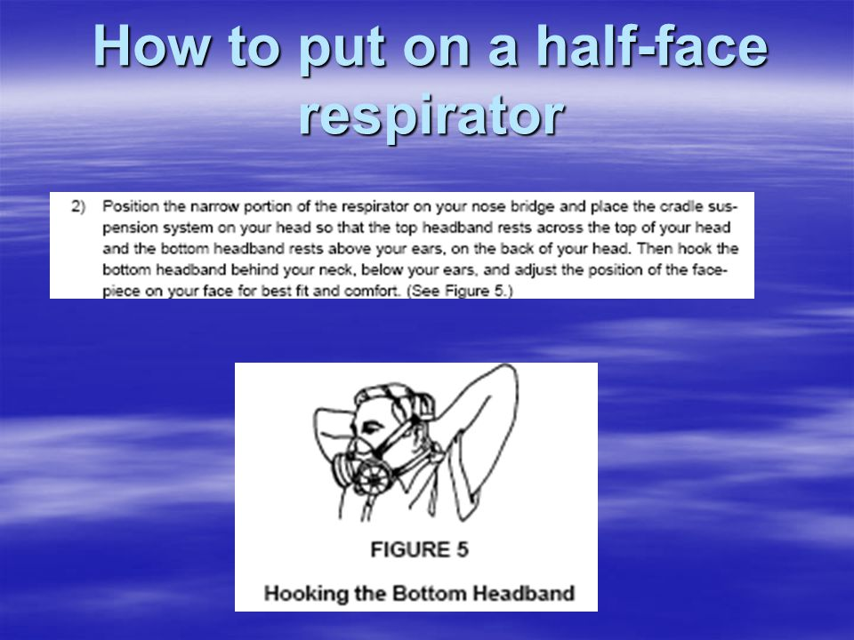How to put on a half-face respirator