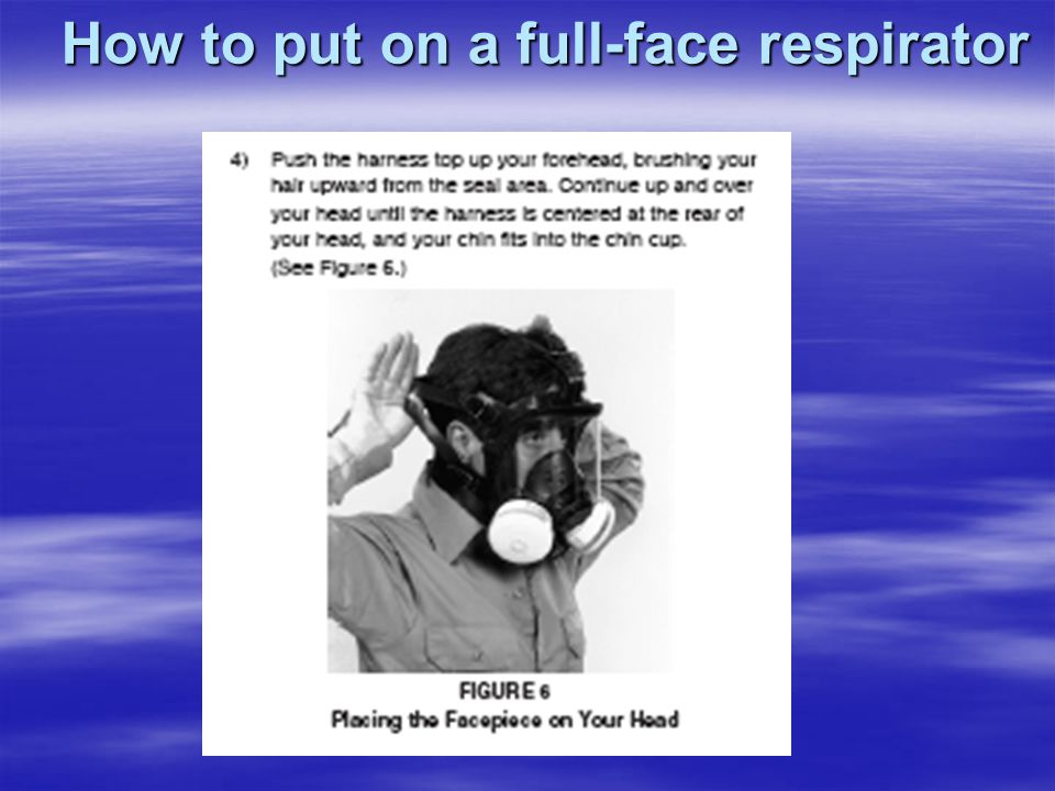 How to put on a full-face respirator