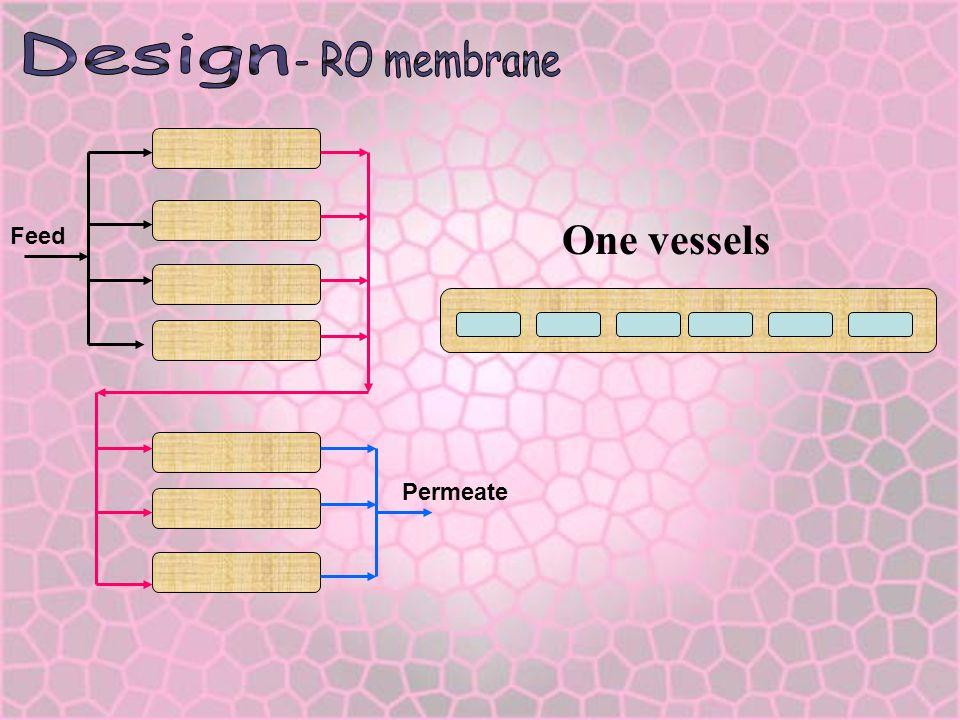 Design - RO membrane Feed Permeate One vessels