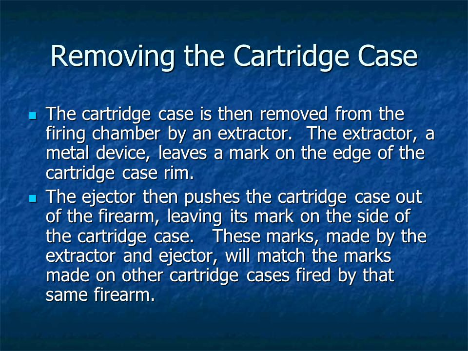 Removing the Cartridge Case