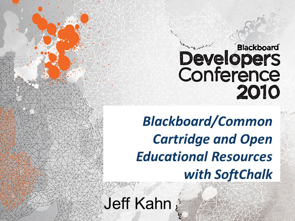 Blackboard/Common Cartridge and Open Educational Resources with SoftChalk