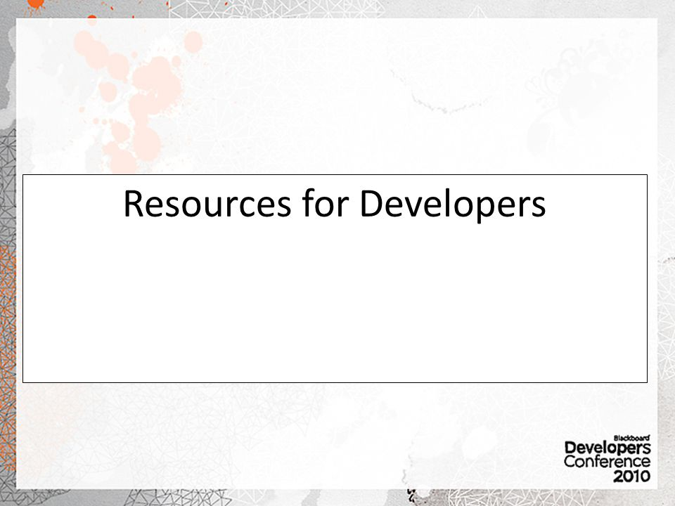 Resources for Developers