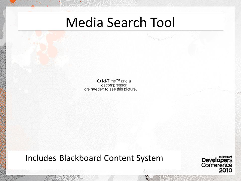 Includes Blackboard Content System